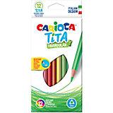 """Набор цветных карандашей Carioca """"Tita"""" трёхгранные, 12 цветов"""