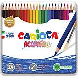 """Набор цветных карандашей Carioca """"Acquarell"""", 24 матовых цвета"""