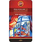 """Набор цветных карандашей KOH-I-NOOR """"Polycolor"""", 12 цветов"""