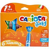 """Набор суперсмываемых фломастеров Carioca """"Baby"""", 6 цветов"""