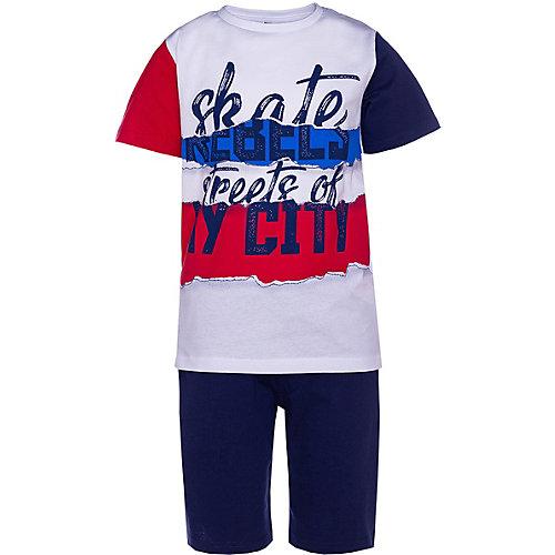 Комплект iDO: футболка и шорты - синий/красный от iDO