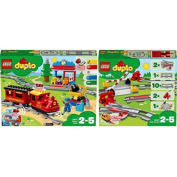 LEGO DUPLO EISENBAHN  BAHNHOF UND SCHIENEN AUS 10874 10875 NEU