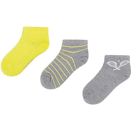 Укороченные носки Mayoral, 3 пары - желтый от Mayoral