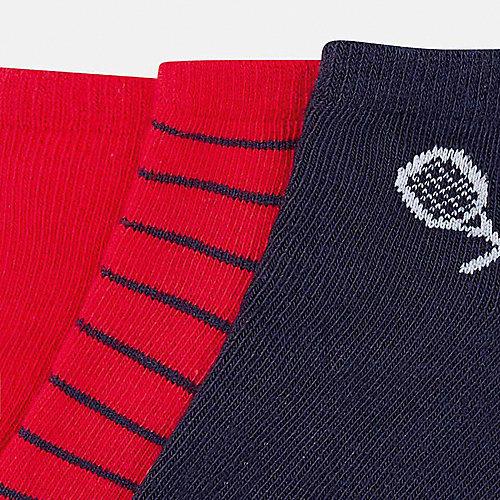 Укороченные носки Mayoral, 3 пары - красный от Mayoral