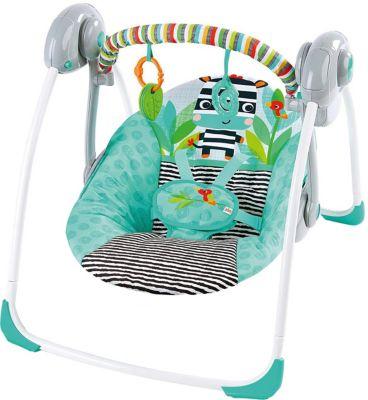 Tragbare Babyschaukel Zig Zag Zebra™ türkis-kombi