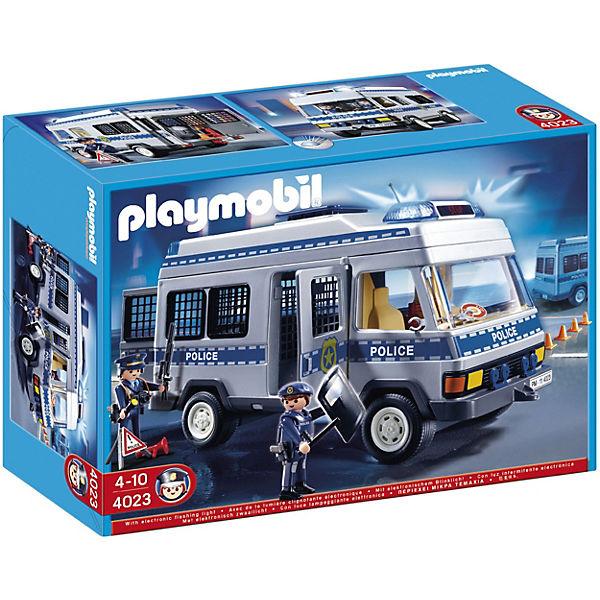 playmobil® 4023 polizei mannschaftswagen playmobil®  mytoys