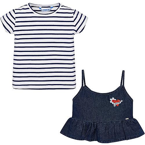 Комплект Mayoral: футболка и топ - темно-синий от Mayoral