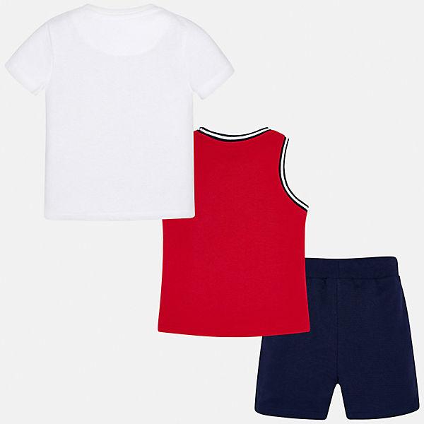 Комплект: Футболка, майка и шорты Mayoral для мальчика
