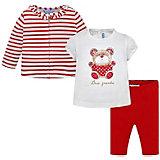Комплект Mayoral: кардиган, футболка и леггинсы