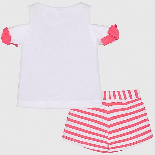 Комплект Mayoral: топ и шорты - розовый/белый от Mayoral