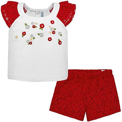 Комплект Mayoral: футболка и шорты - красный от Mayoral