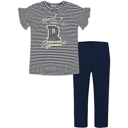 Комплект Mayoral: футболка и леггинсы - темно-синий от Mayoral