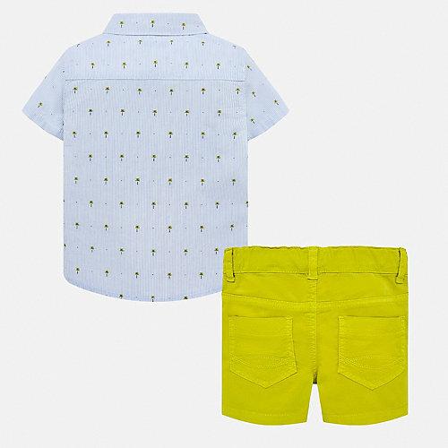 Комплект Mayoral: рубашка и шорты - сине-жёлтый от Mayoral