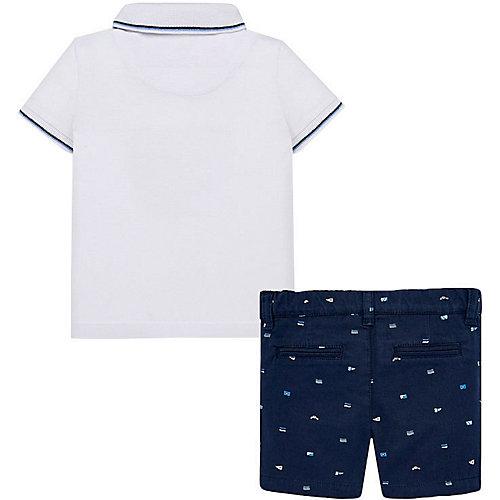 Комплект Mayoral: поло и шорты - синий/белый от Mayoral