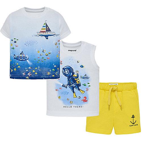 Комплект Mayoral: футболка, майка и шорты - желтый от Mayoral