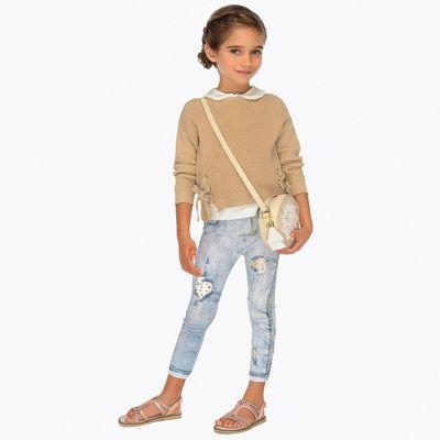 Леггинсы Mayoral для девочки - светло-серый