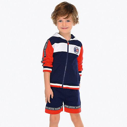 Комплект Mayoral: толстовка, шорты и спортивные брюки - синий/красный от Mayoral