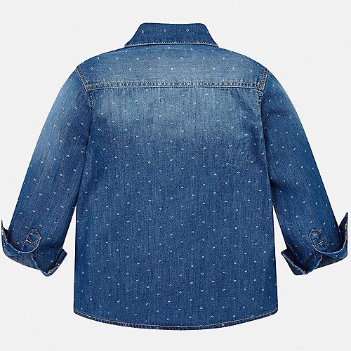 Джинсовая рубашка Mayoral - темно-синий деним от Mayoral