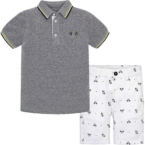 Комплект Mayoral: поло и шорты - белый от Mayoral