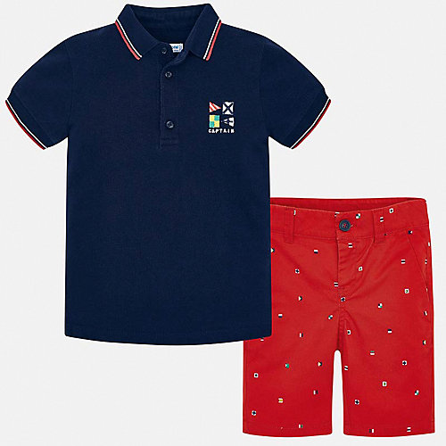 Комплект Mayoral: поло и шорты - красный от Mayoral
