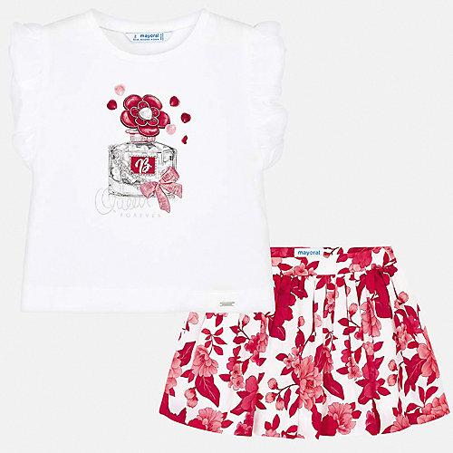 Комплект Mayoral: топ и юбка - белый от Mayoral