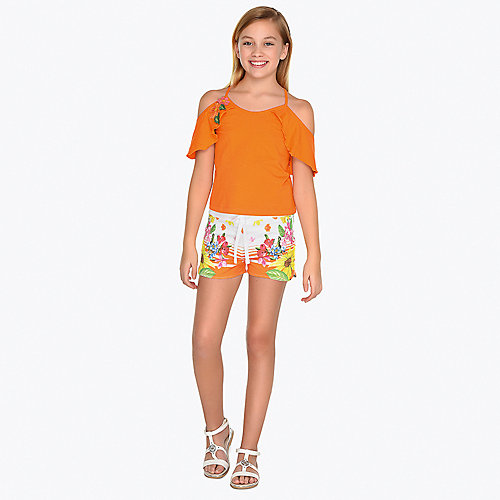 Комплект Mayoral: топ и шорты - оранжевый от Mayoral