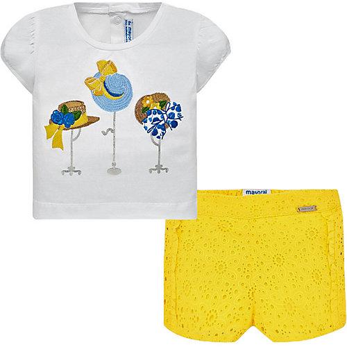 Комплект Mayoral: футболка и шорты - желтый от Mayoral