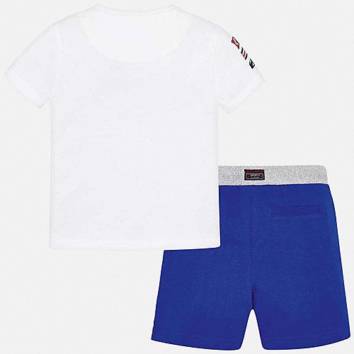 Комплект Mayoral: футболка и шорты - синий/белый от Mayoral