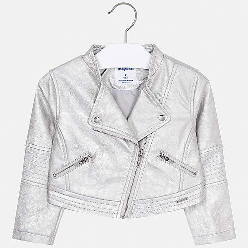 Кожаная куртка Mayoral - серебряный от Mayoral