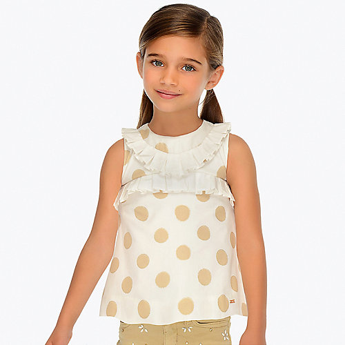 Блузка Mayoral - beige/weiß от Mayoral