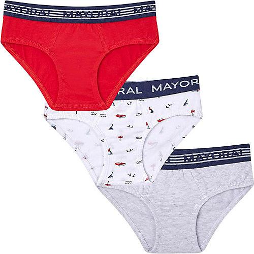 Трусы Mayoral, 3 шт - красный от Mayoral