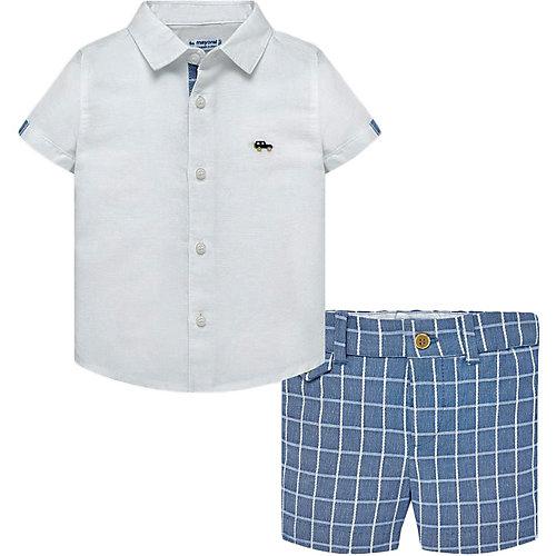 Комплект Mayoral: рубашка и шорты - синий/белый от Mayoral