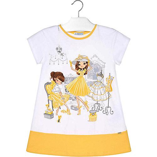 Платье Mayoral - желтый/белый от Mayoral