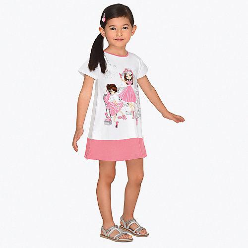 Платье Mayoral - розовый/белый от Mayoral