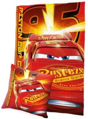 Disney Cars 3 Kissen /& Fleece-Decke SET NEU