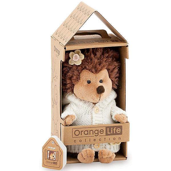 Мягкая игрушка Orange Life Ежинка Колючка: Вечер у камина, 20 см