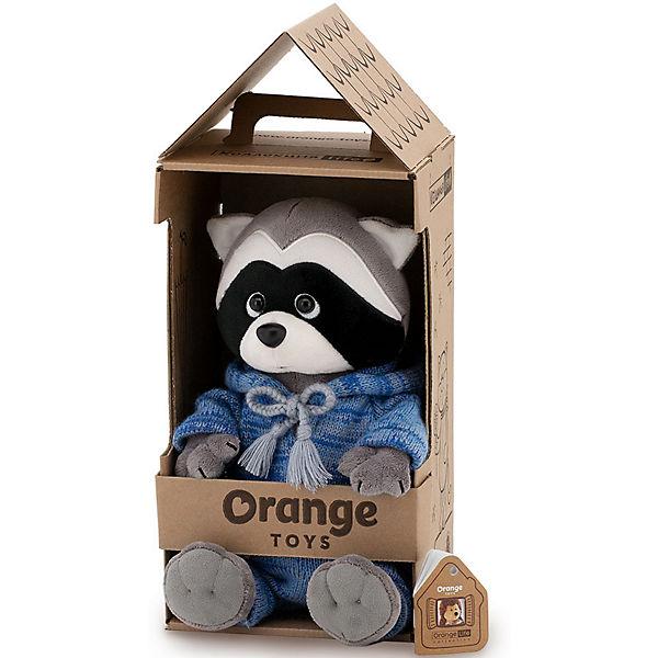 Мягкая игрушка Orange Life Енотик Дэнни: Вязаный сезон, 25 см