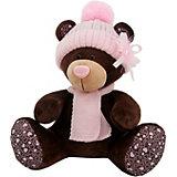 Мягкая игрушка Orange Choco & Milk Мишка Milk сидячая в розовой шапке, 25 см