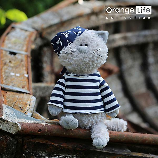 Мягкая игрушка Orange Life Кот Обормот Пират, 30 см