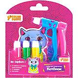 """Набор для творчества Color Puppy """"Котенок"""" с пистолетом и жидким пластилином"""