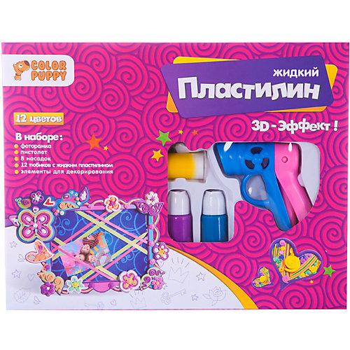 Набор для декорирования фоторамки Color Puppy с пистолетом и жидким пластилином от Color Puppy