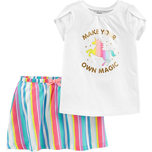 Комплект Carter's: футболка и юбка - белый от carter`s