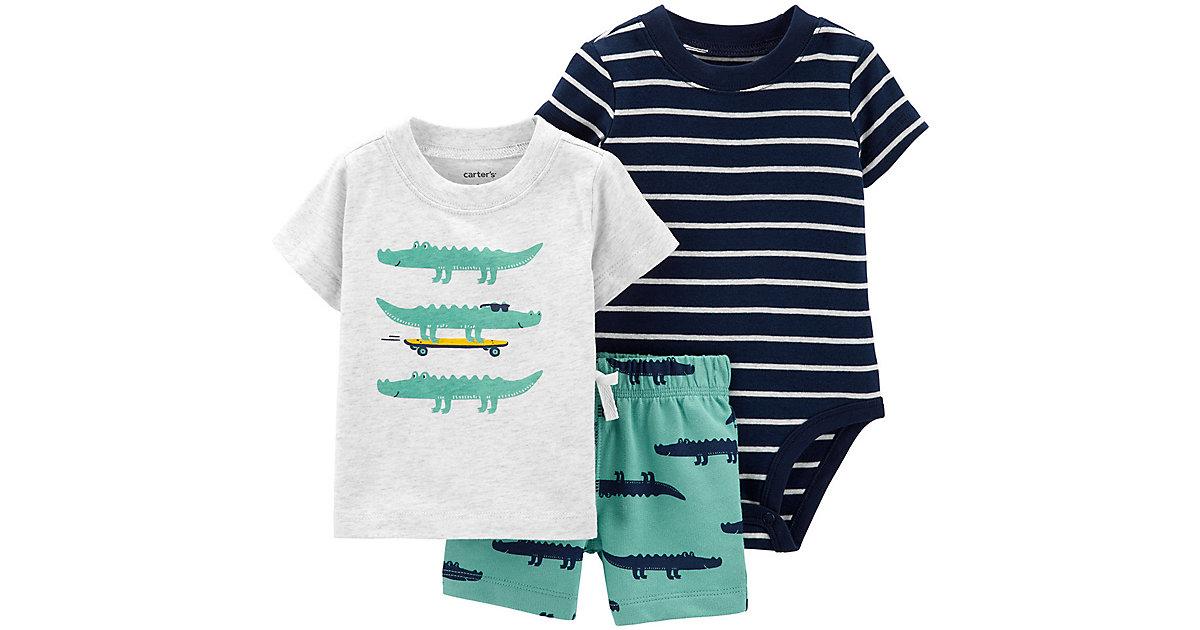 Carter´s · Baby Set T-Shirt + Kurzarmbody + Shorts Gr. 86 Jungen Kleinkinder