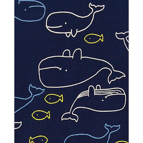 Комплект: футболка и полукомбинезон carter's для мальчика - темно-синий от carter`s