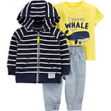 Комплект: толстовка, футболка и джинсы carter's для мальчика