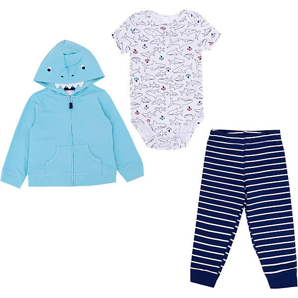 Baby Set Sweatjacke + Body + Leggings für Jungen
