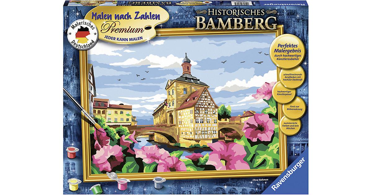 Ravensburger · Malen nach Zahlen Premium, 30x40cm, mit Bilderfirnis, Historisches Bamberg