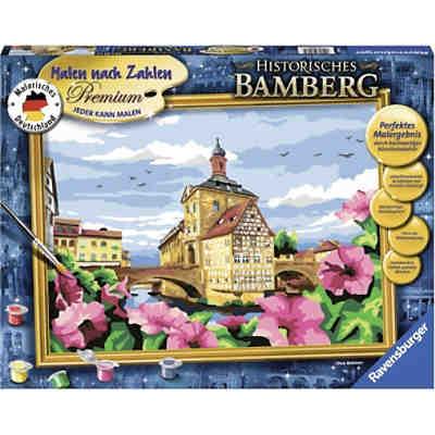 Malen Nach Zahlen Premium 30x40cm Mit Gold Farbe Bilderfirnis Japanische Kirschblüte Ravensburger