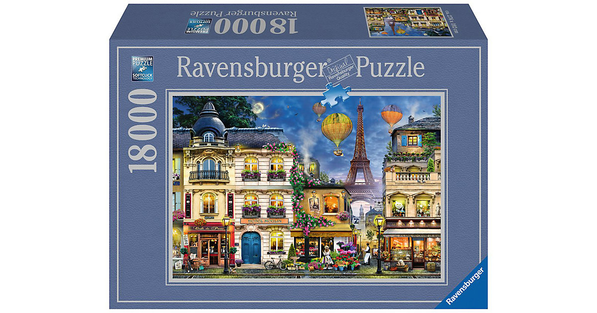 Ravensburger · XXL Puzzle 18.000 Teile, 276x192 cm, Abendspaziergang durch Paris
