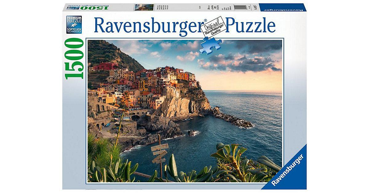 Puzzle 1500 Teile, 80x60 cm, Italien Blick auf Cinque Terre